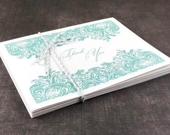 Decorative Swirls Thank You Cards (Set of 10)