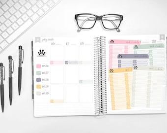 MATTE | Work Label Loonie Prints | Erin Condren | Vertical | Planners