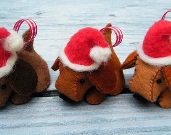 Christmas dogs - DIY felt kit