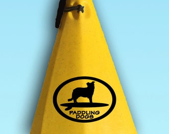 Border Collie Terrier Dog Vinyl SUP Kayak Canoe Car Sticker Decal Original Design by Paddling Dogs