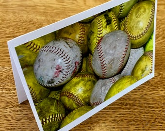 Softball Photo Card