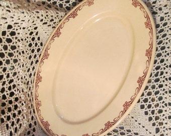 Vintage Scammell's Trenton Lenape Pattern Platter