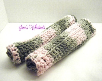 Dish Cloth - Crochet Cloth - Pink Grey Camo -  Washcloth - Face Cloth - Cotton cloth - CRO 84 CRO 82 CRO 85