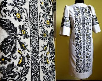 Ukrainian embroidery, bead embroidery, shiny beads, ukrainian dress, beaded dress, dress with ornament, beads, women dress, Ukraine