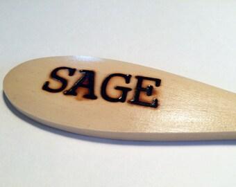 SAGE-Wooden Spoon Plant Marker