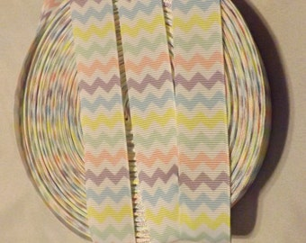 Grosgrain Ribbon Easter Pastel Chevron 7/8 inch 5 yards