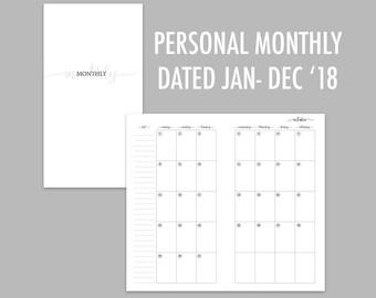 Personal TN Monthly 2018 (Jan - Dec)