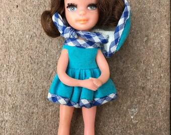 Vintage 1967 Uneeda Tiny Teen Teens Doll: FUN TIME