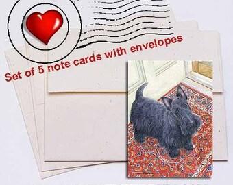 Walk Scottish Terrier Note Card Set