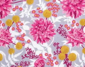 Joel Dewberry Fabric, Wander, Moon Garden, Rosetta, Floral, cotton quilting fabric, By the Yard