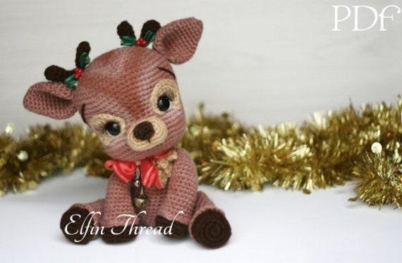 Amigurumi Christmas : Elfin thread ritva the christmas reindeer pdf amigurumi