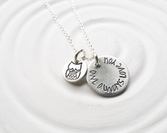 Itty Bitty Jewelry - Owl Always Love You Necklace - Owl Necklace - Dainty Hand Stamped Personalized Jewelry - Gift For Her