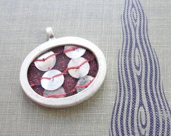 Framed  silk pendant