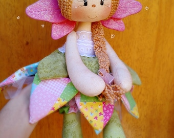 MADE TO ORDER: Handmade Fantasy Floral Fairy Doll