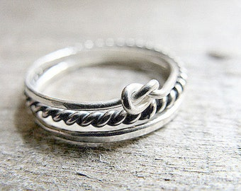 Stacking Rings Sterling Silver