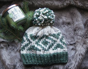 Sherwood Knitting Pattern / Hat / Colorwork / Super Bulky