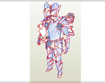 EVA Foam blueprints of  Skyrim Ebony armor suit male version
