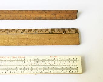 vintage office decor. Rulers Measuring Tools Vintage Office Decor Fixer Upper Slide Rule Drafting Ruler C