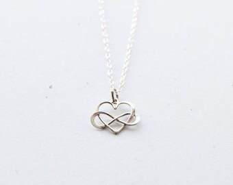 Graceful Heart Necklace|Sterling Silver| Heart Jewelry| Gift Ready