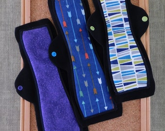 "Set of Reusable Pads (12"" Heavy) ------Great for Postpartum, Overnight, and folks who want more coverage!"