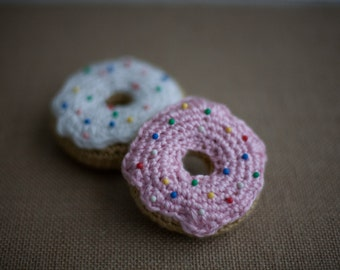 Crochet Donut with Icing Pin Cushion, Pin Cushion Donut, Amigurumi Food, Baby Toy Donut, Sewing Donut Pin Cushion, Icing On Donut Pincushion