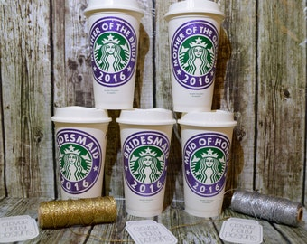 Bridesmaid Gifts (Fast, Simple) Personalized Starbucks Coffee Cup with Name (Genuine Starbucks Cup) [bridal party gifts, bridesmaid ideas]
