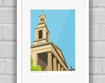 St Luke's Church, West Norwood, London - Limited Edition Giclée Art Print / Poster