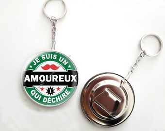 Keychain bottle opener beer - 56mm - love