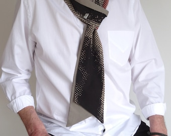 Tie reversible Jack.B bow with button cuff
