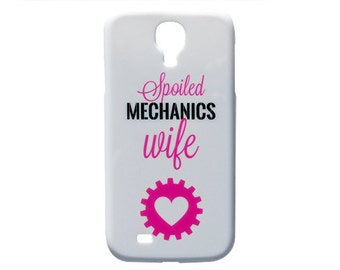 Cute Spoiled Mechanics Wife Print Case Style Heart Design Phone Case for Samsung Galaxy S4 or S5 Fashion Cover c169