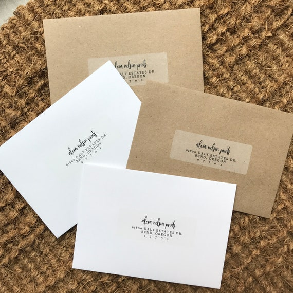 Add-On: Clear Return Address Labels For Response Envelopes