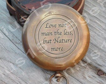 Compass, Personalized Compass, Engraved Compass, Custom Compass, Leather Case, Corporate Gift, Groomsmen Gift, Gift For Men, Nautical Gift