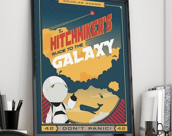 Hitchhiker's Guide to the Galaxy   Book Poster    Unframed
