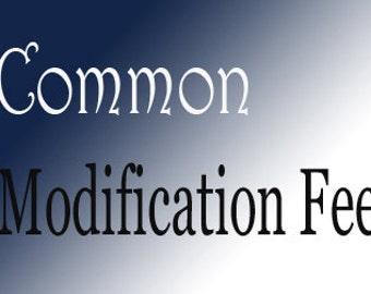 Common Modification Fee