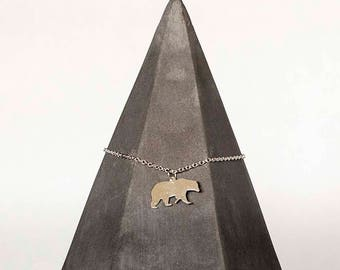 Silver Plated Bear Necklace