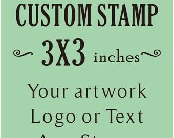 Custom Stamp, Custom Logo Stamp, Wedding Stamp, Business Card Stamp,custom return address stamp, Craft 3x3inches