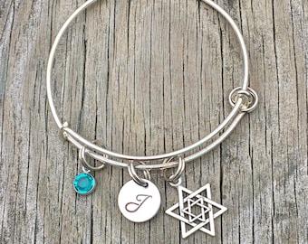 Jewish bracelet - Jewish jewelry - Star of david  - Hebrew jewelry - Jewish - Bracelet - Hebrew bracelet - Hanukkah