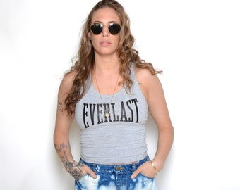 Vintage 90's EVERLAST Cropped Tank Top Sz XS/S