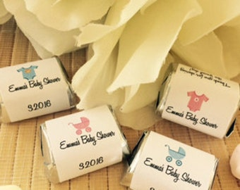 Baby Shower Favors, girl  baby Shower,  boy baby shower favors, baby shower candy bar wrappers, onesie  party favors, baby shower