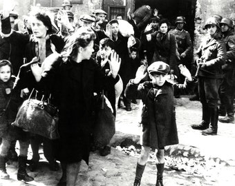 """Image From the 1943 """"Warsaw Ghetto Uprising"""" - 8X10 or 11X14 Historic Photo (AZ167)"""