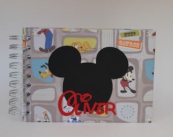 Personalized Disney Autograph Book Mickey Minnie Goofy and Donald Duck Disneyworld Disneyland Disney Cruise Signature Book