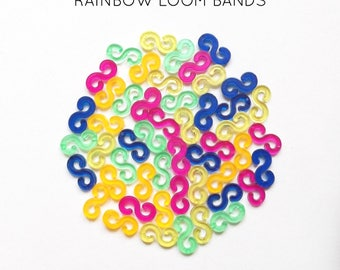 50 lobster S multicolored rainbow loom bands