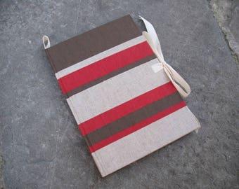 Recipe book cook book chef personalized book cloth cover