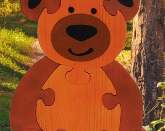 Wooden bear Puzzle, Handmade Puzzles, Educational Toys, Educational Gifts, Teddy Bear, Handmade in Israel, Handmade Gifts