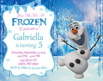 Frozen Olaf Invitation Birthday - Frozen Olaf Party