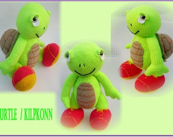Amigurumi turtle-Turtle-Crochet stuffed animal