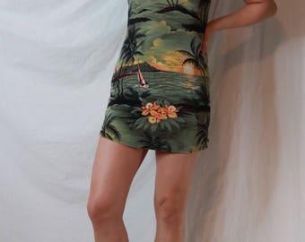 Vintage Island Mini-Dress
