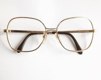 Vintage 1980's Oversized Rodenstock Gold Eyeglasses