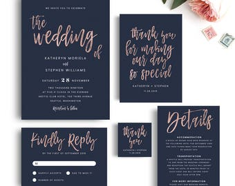 Wedding Invitations Printable Templates Modern Calligraphy - Wedding invitation templates: modern wedding invitations templates