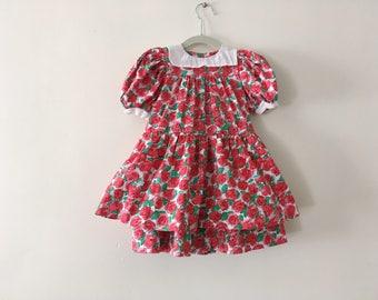 Saks Fifth Avenue Vintage Girls Dress - Size 3t - Roses